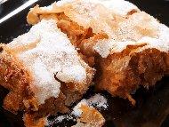 Вкусна обикновена щрудел - баклава от готови кори с орехи, ябълки и канела